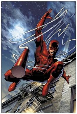 Daredevil sticks the landing and then awkwardly waits for someone to read him the judge's score cards. Womp womp!