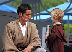 """All the wittle kids will be alwight, wight Mr. Jedi?"" ""Uh...."""