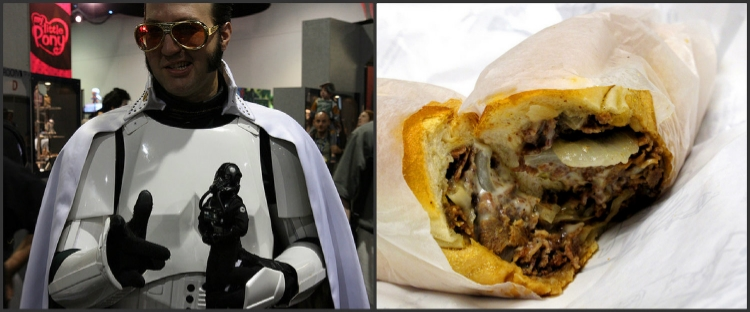 """If any stormtrooper knows anything about Cheesesteaks, it's the King, baby. TCB in a flash, Jack!"""