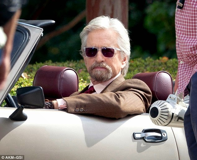 Dr. Pym looking very fly in his convertible. Fly? Get it? Fly?? Ant-Man? OK, I'll stop.