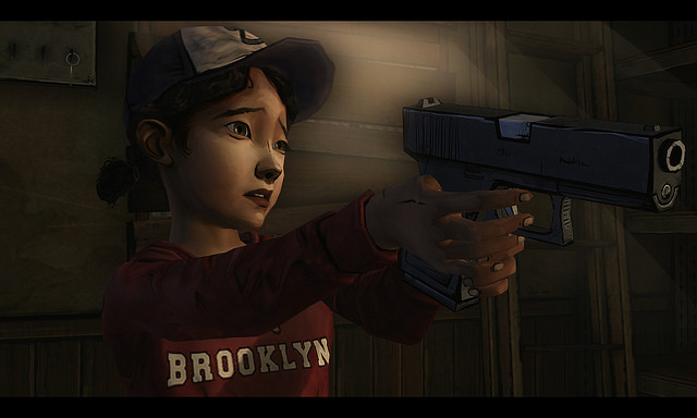 OK, Clementine, be cool...I'll download the game...let's all just be cool....