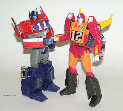 Optimus: I like this football version better. I don't have to die. Rodimus: Pretty close, though. You went to Buffalo and Dallas. Optimus: Ewwww.