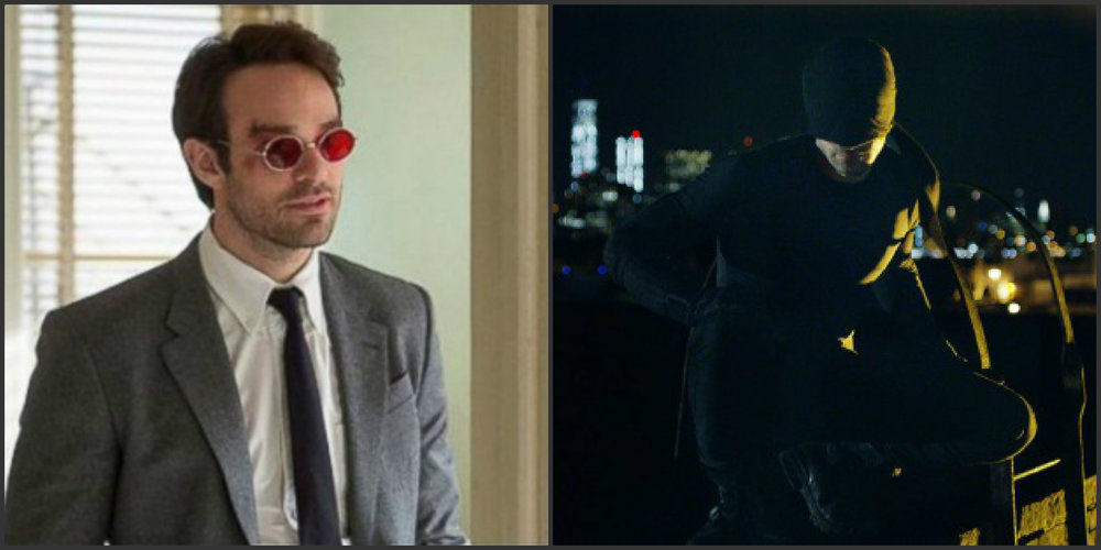 Charlie Cox as Matt Murdock and Snake Eyes...I mean Daredevil.
