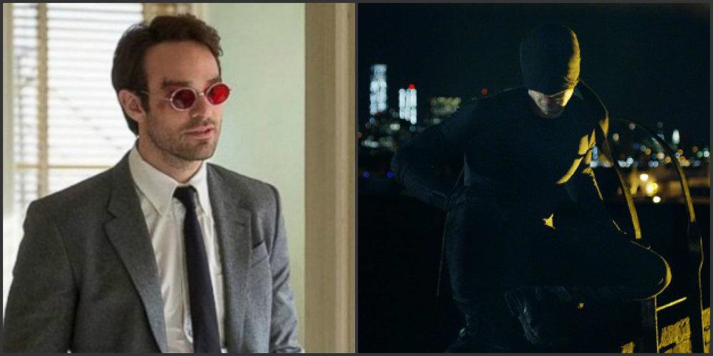 Charlie Cox as Matt Murdock and Snake Eyes...I mean Daredevil.