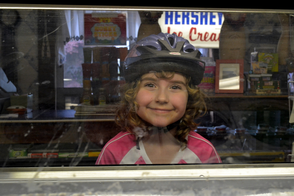 Bike riders coming in off the Rails to Trails often want ice cream.