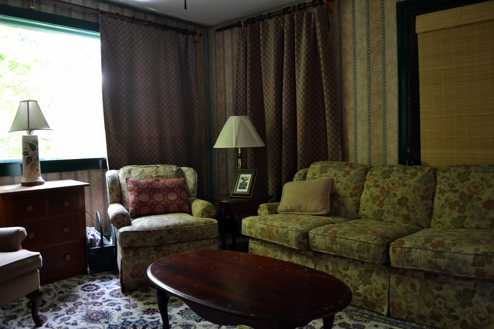 Antiques and wallpaper make the house seem just as comforting and friendly as it was years ago.