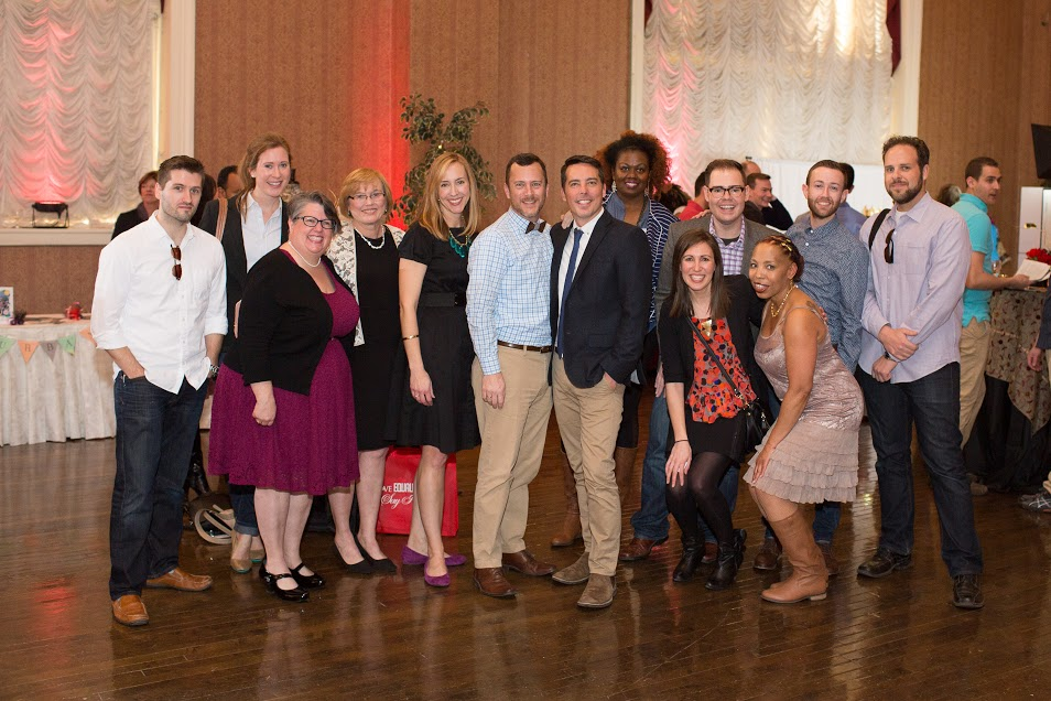 Dan and Jim w/ the Say I Do! and OutRVA wedding giveaway team. Photo credit: Hoot Media Photography.