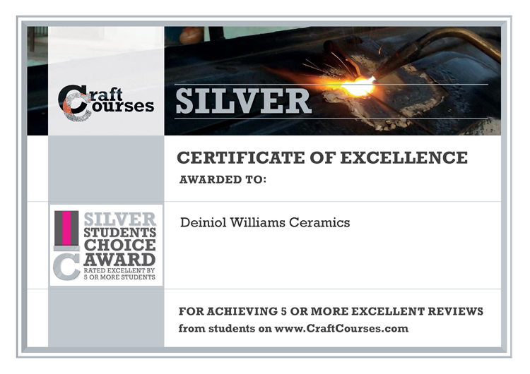 CraftCourses Certificate of Excellence