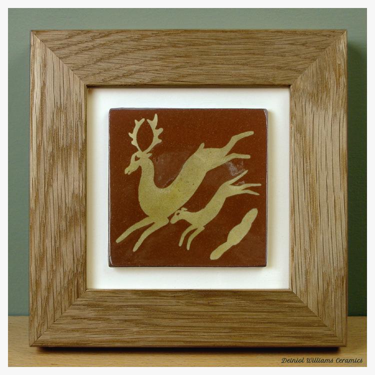 'Hart & Hound' Framed Tile