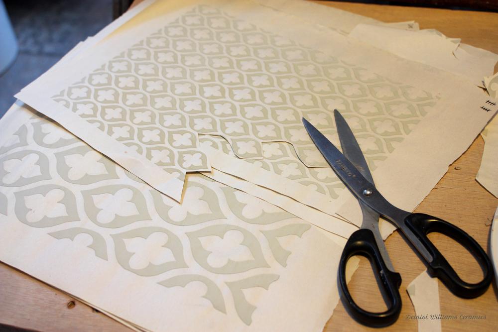 Screen printed slip patterns