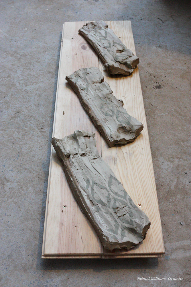 Stretched clay slabs