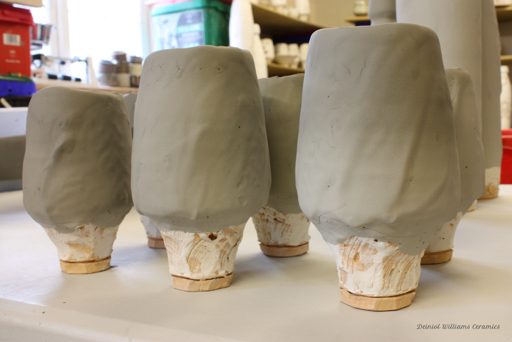 Vessel forms after being glazed
