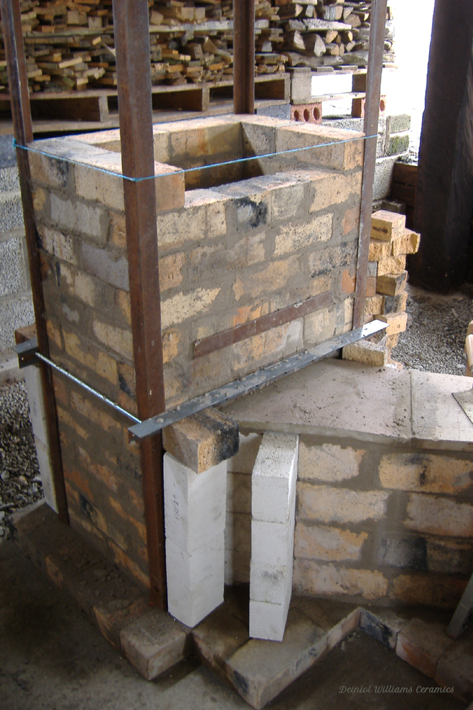 Woodkiln chimney base construction