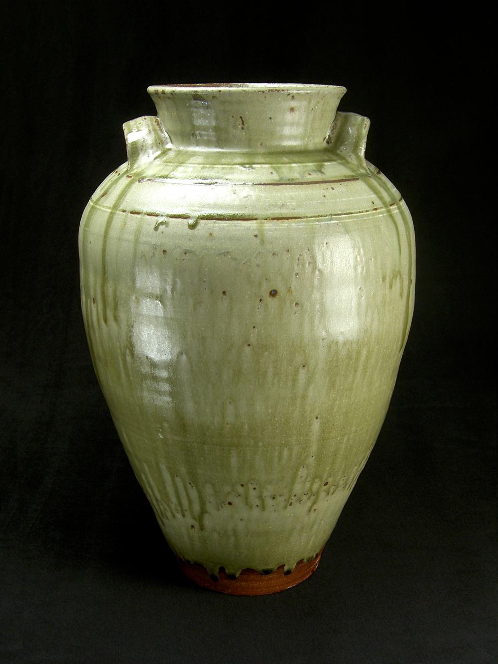 Large Round Lugged Jar