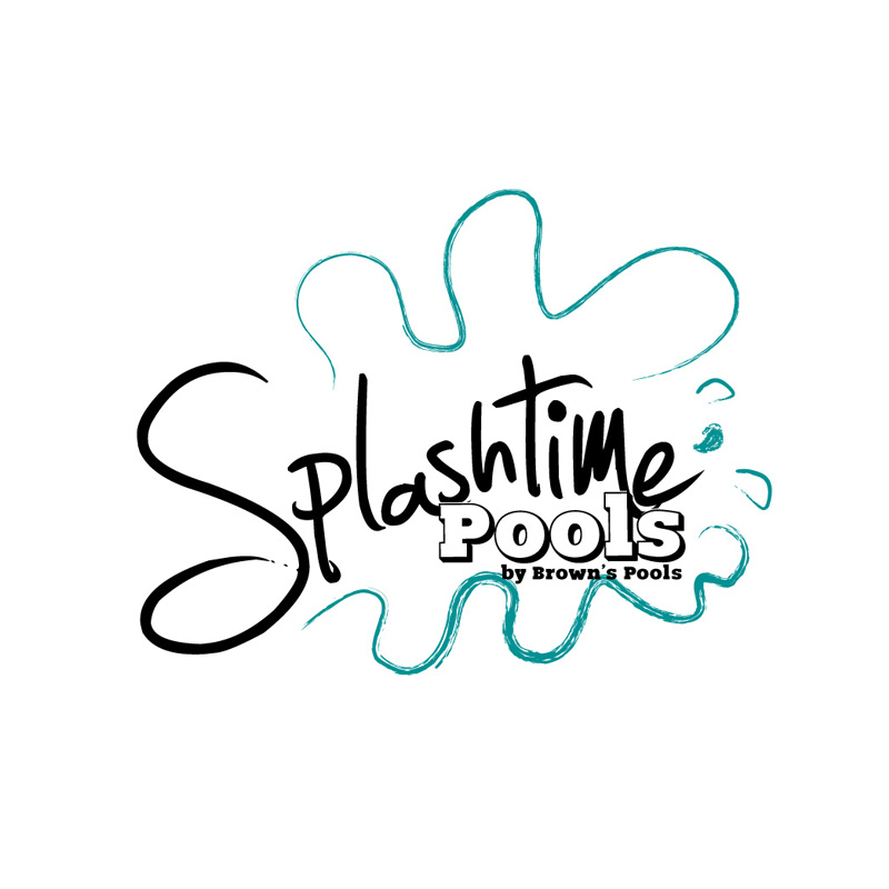 Logo design for Splashtime Pools brand for Browns Pools & Spas in Douglasville, Ga.