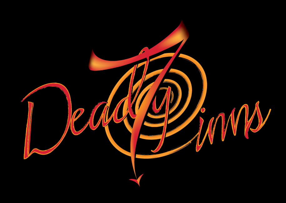 Logo design for 7 Deadly Cinns bakery in California.