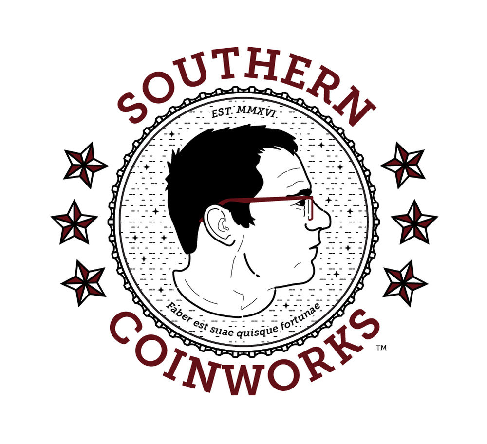 Logo design and illustration for Southern Coinworks