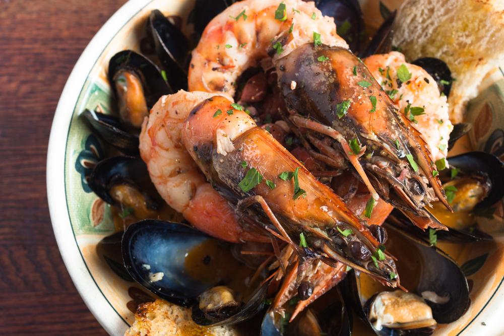 """Seafood Stew """"Guazzetto"""" antipasti"""