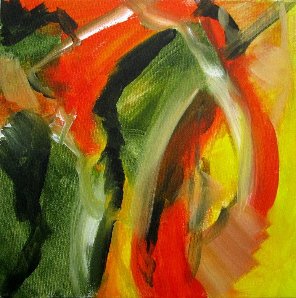 Hope in Zimbabwe - 50 x 50 cms, acrylic on canvas