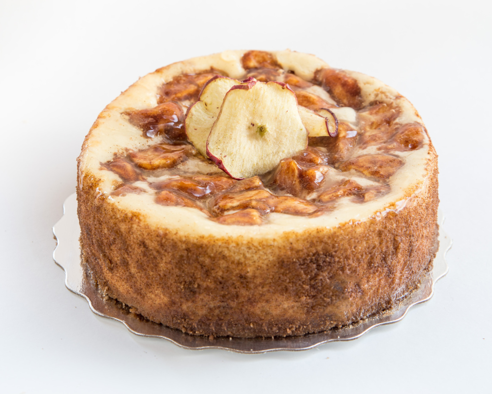 Caramel Apple Cheesecake Smal (serves 6-8) $33.99, Large (serves 12-14) $58.99