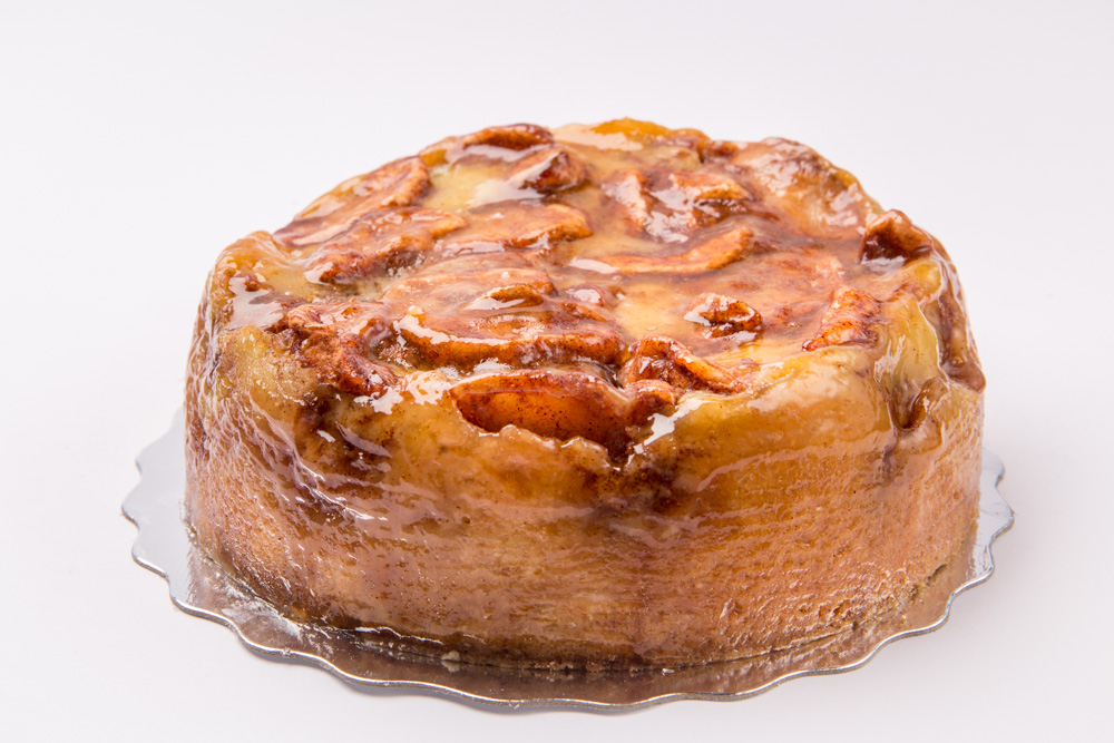 Apple Divine Rich butter cake baked with apples tossed in cinnamon and brown sugar. Also available in blueberry.