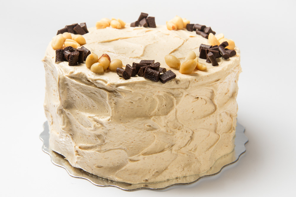 Reese's Peanut Butter  Chocolate cake in our peanut frosting.