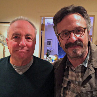 Lorne Michaels and Marc Maron. Photo courtesy of  Marc Maron