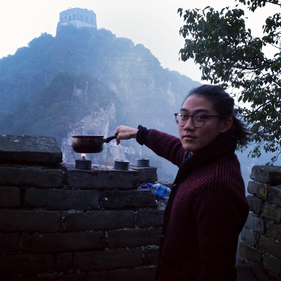 Early tea on the Great Wall