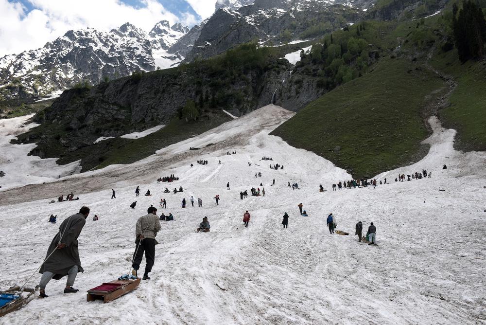 Sledding glacier