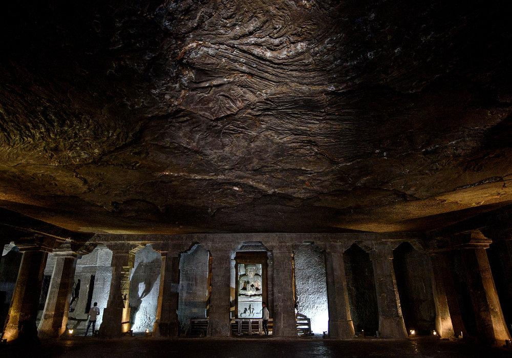Basalt rock of the Deccan Traps