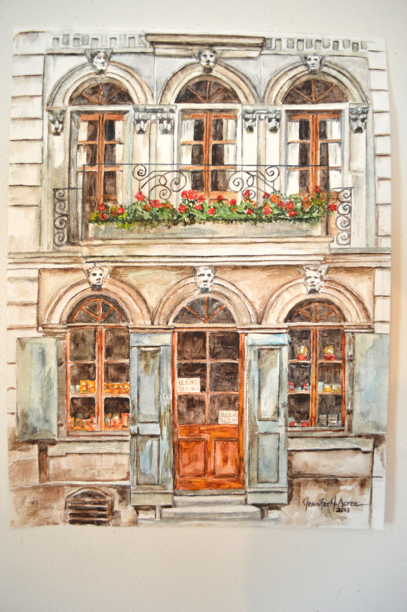 "Geneva Old Town 1984  Watercolor. 12"" x 16""  $595.00"