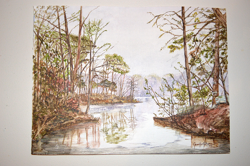"Hunter's Mill Lake, After the Rain 1984. 2013  Watercolor. 12"" x 16""  $280.00"