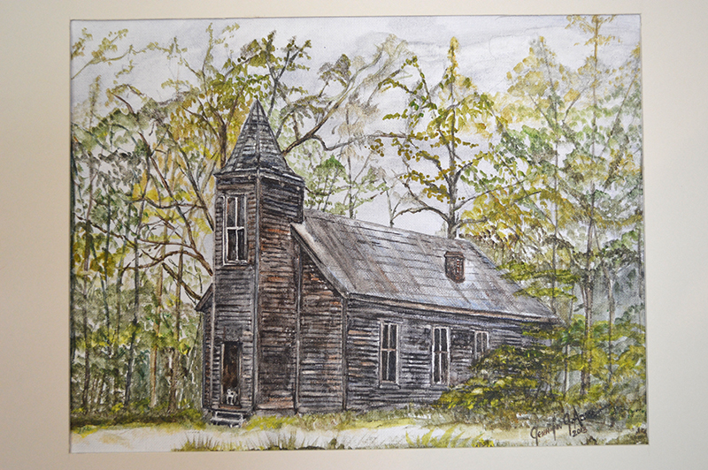 "Occupacia Church 1980. 2013  Watercolor. 12"" x 16""  $255.00"