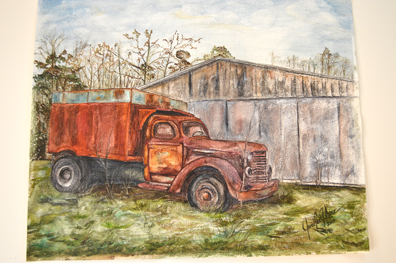 "Rustic Old Truck 2010. 2013 Watercolor. 16"" x 20""  $280.00"