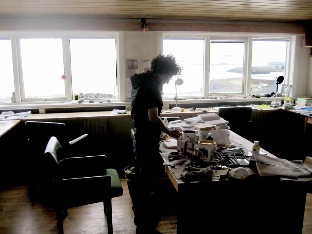My studio in Reykjavik