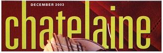 Chatelaine Magazine, 2003