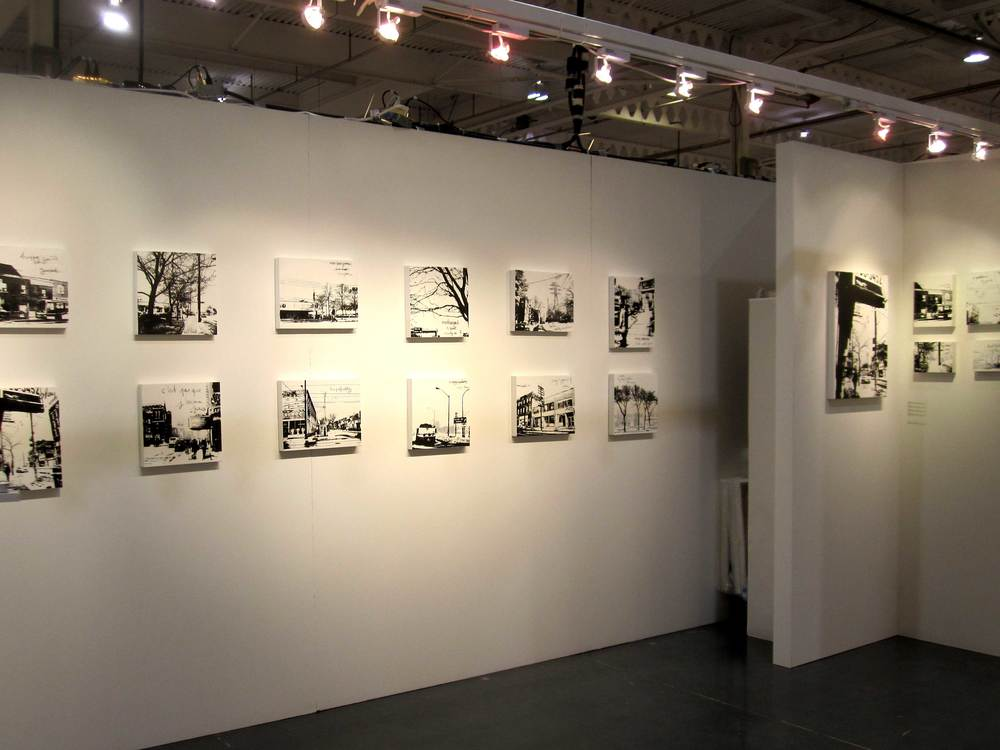 The Artist Project    Landscapes   is a series of silkscreen prints, with painting and drawing, on wood panels. Each panel is inspired by living in Toronto and is a signed limited edition of 28. This series received the VIP Award at the   Artist Project   in 2013 and was exhibited at the   TOAE   that same year.
