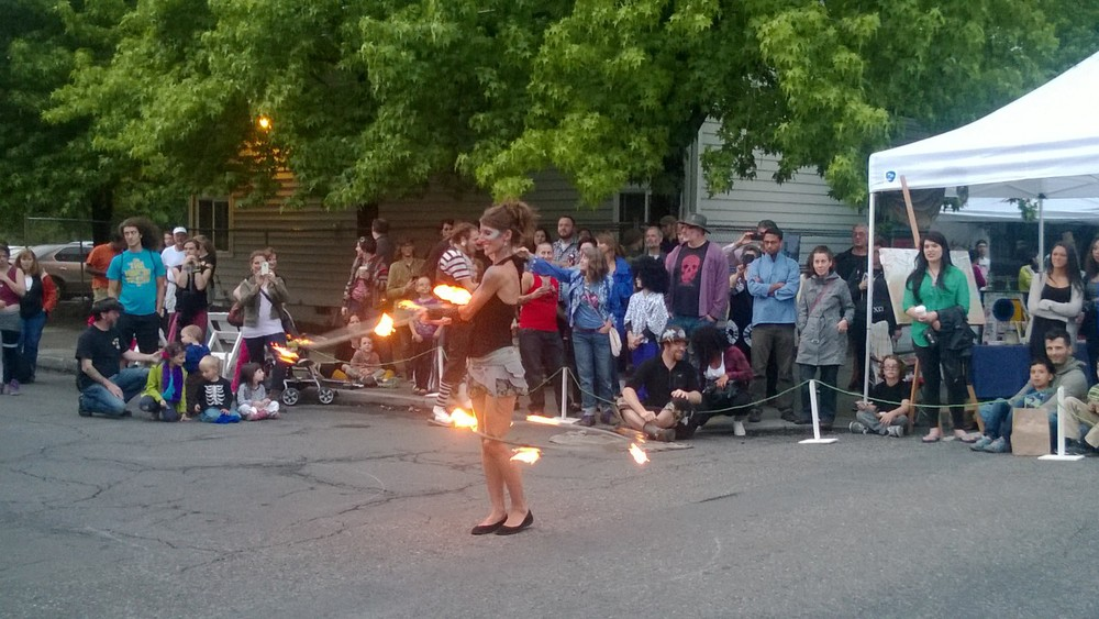 Fun with flames (left) and bubbles (right)