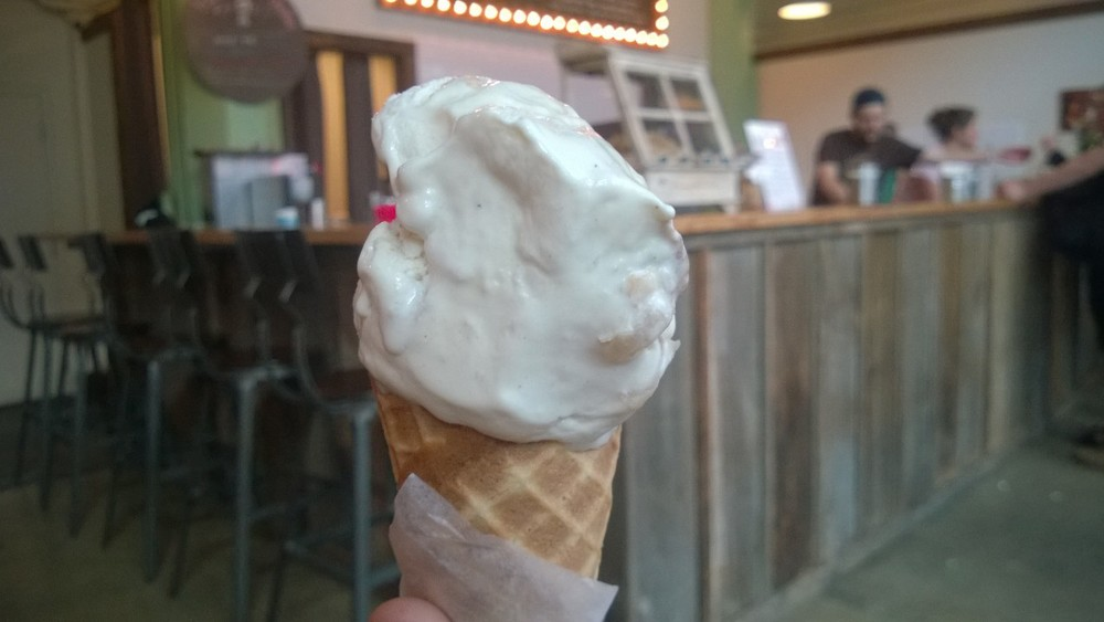 The winner: Ruby Jewel's Apple Pie ice cream on a homemade waffle cone