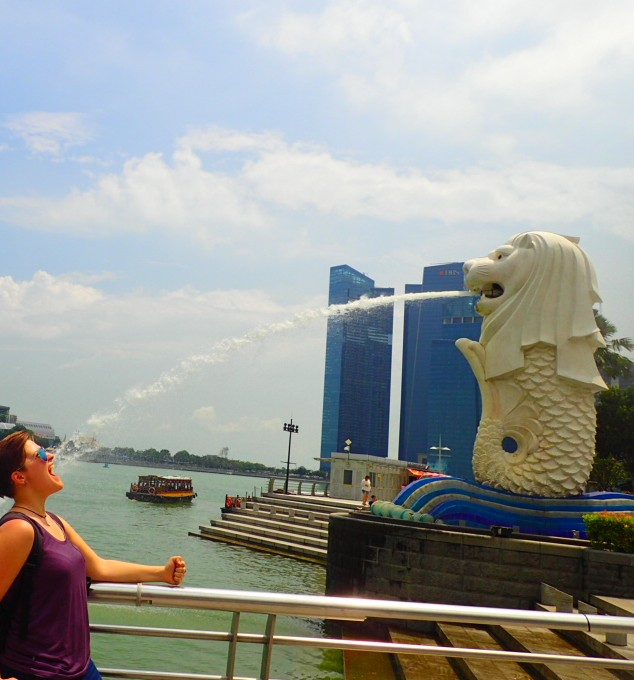 I Mean Come On How Often Can You Get A Shot Of Yourself Catching The Backwash Merlion In Your Mouth Simply Beautiful Tear