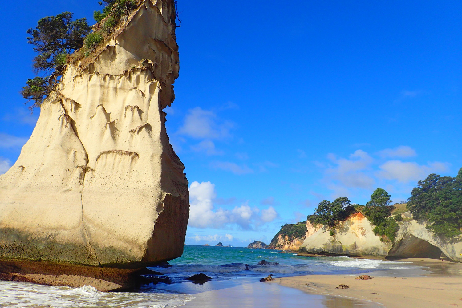 Cathedral Cove Nz Where You Re Enter Narnia And The Ceiling Can T