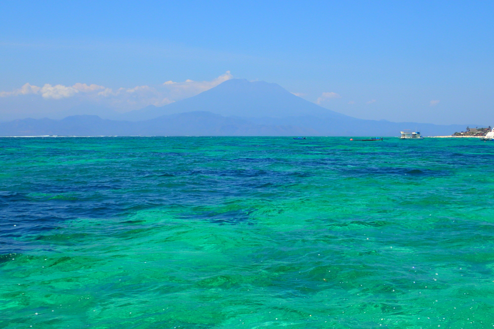 Mount Agung on Bali mainland (view from Nusa Lembongan)