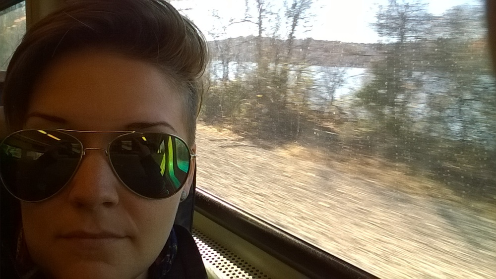 On the train in NewYork