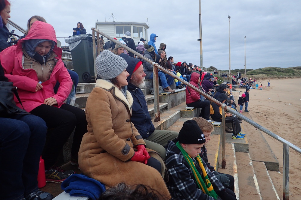 Folks bundled up in Southern Australia in July