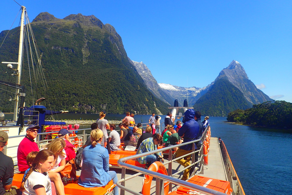 Milford Sound boat ride