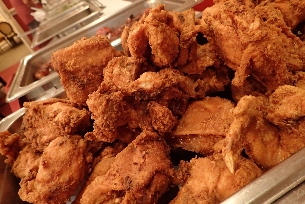 Dooky Chase fried chicken buffet