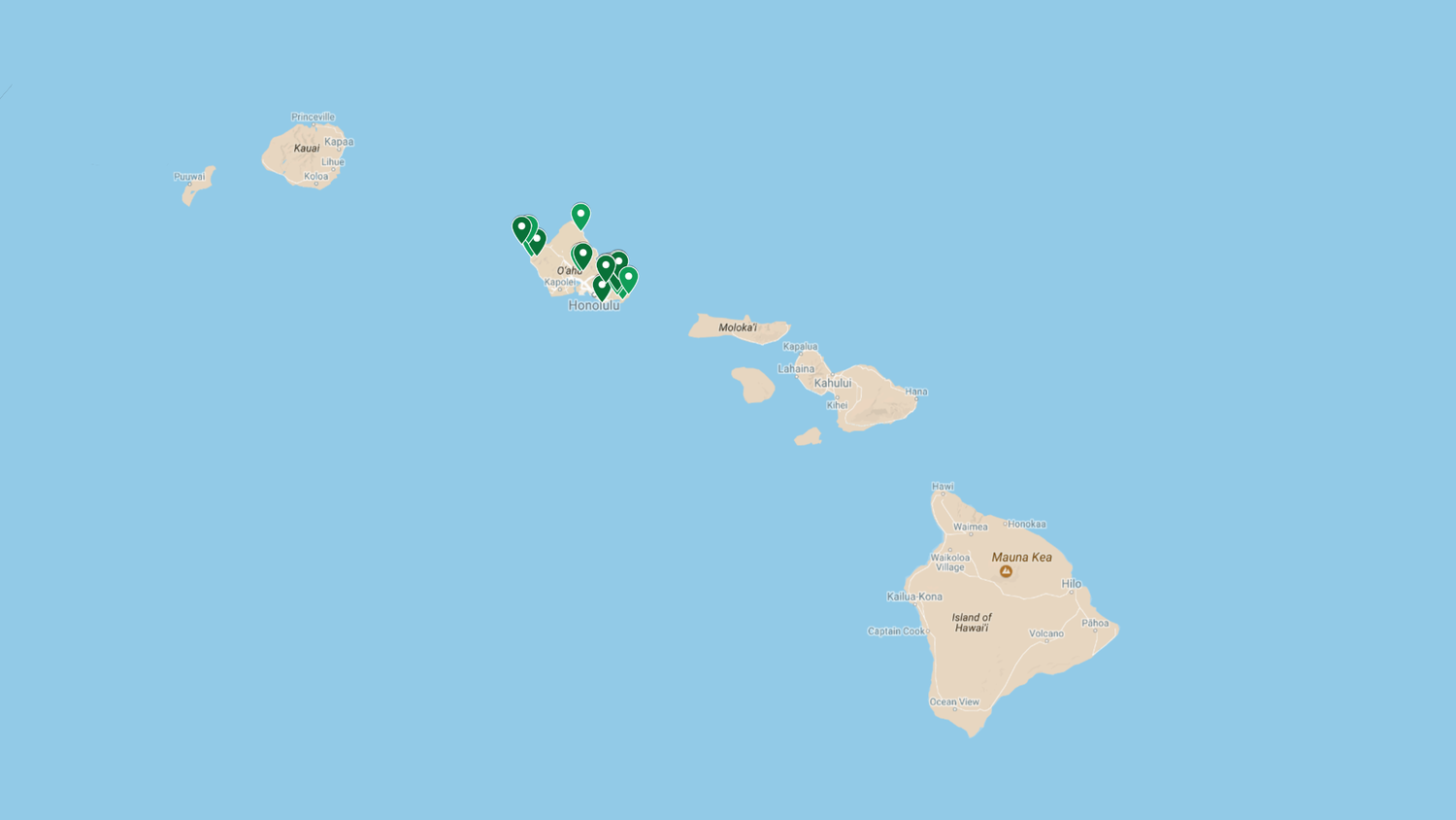 My Interactive Oahu Map: 100 Hikes, Beaches, Eats and More ...