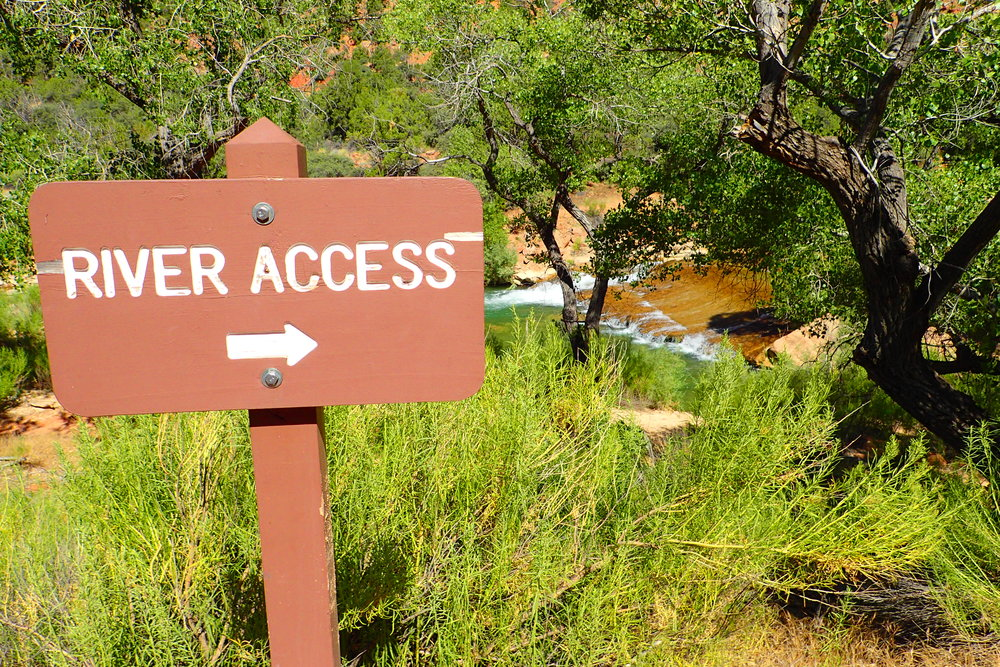 River access can be found at Stop 3 at the start of the scenic drive