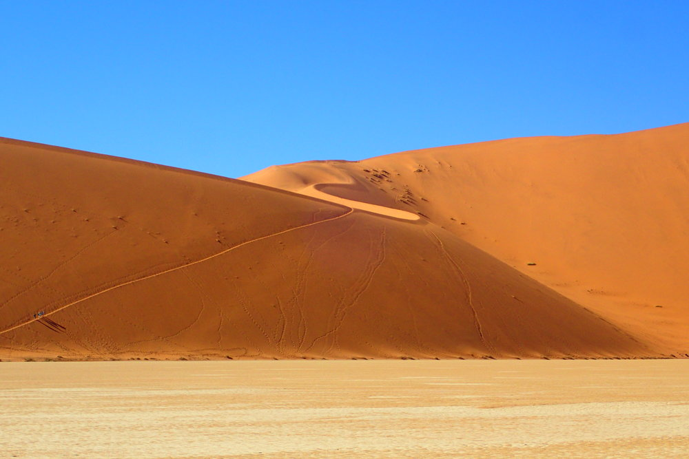 "The famous ""Big Daddy"" dune in the Namib Desert"