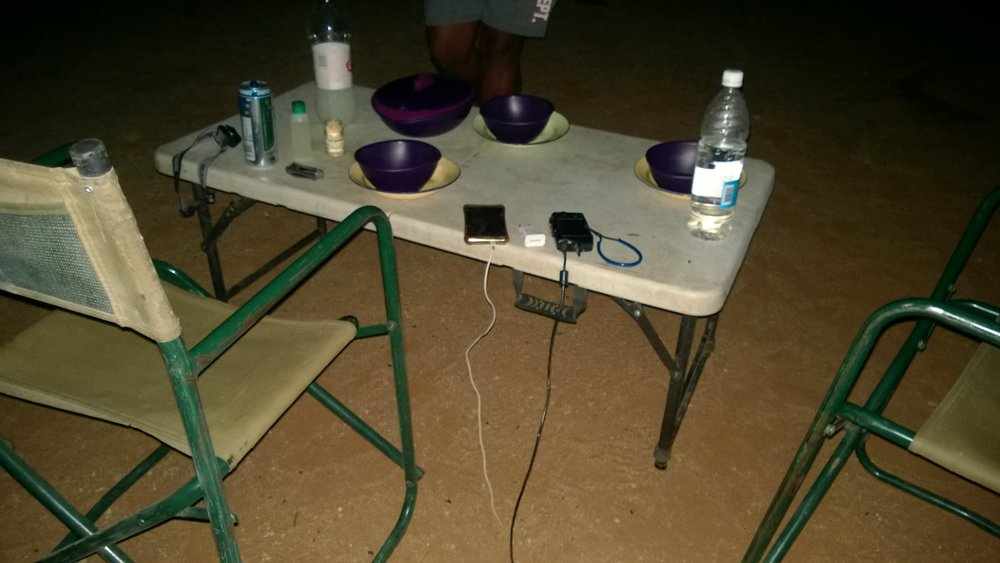 Charging our devices at the campsite